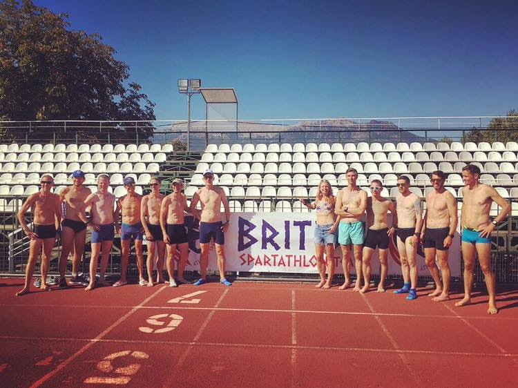 British Spartathlon Team pre-Spartan 400m race