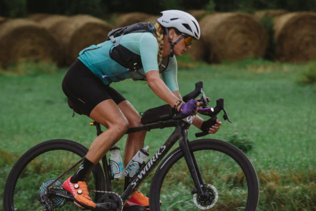 Alison Tetrick racing Dirty Kanza