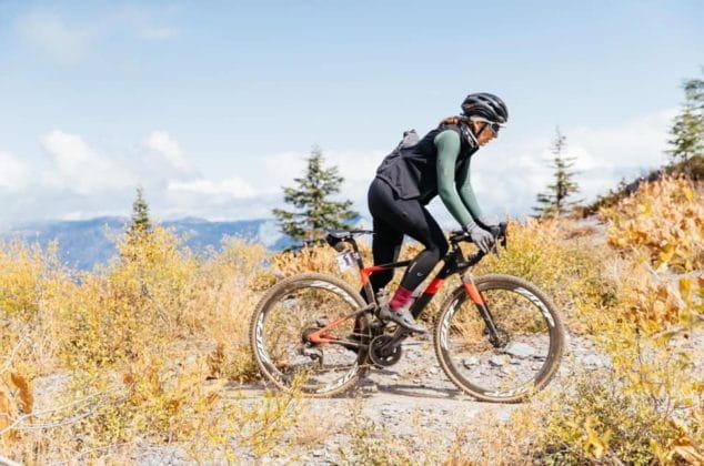 Laura King gravel biking