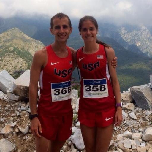 David and Megan Roche in Team USA jerseys