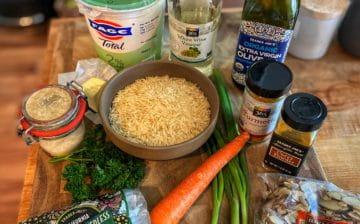 Curried rice salad ingredients