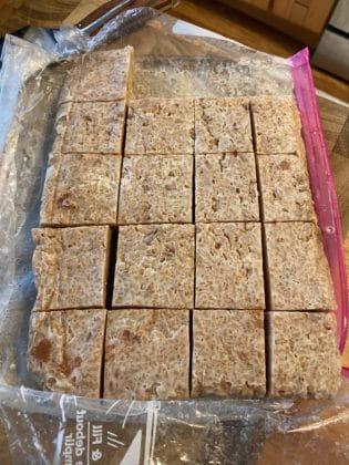 Sarah Piampiano's homemade rice bars