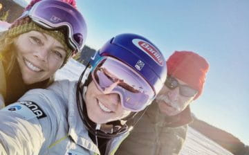 Mikaela Shiffrin with her parents Jeff and Eileen