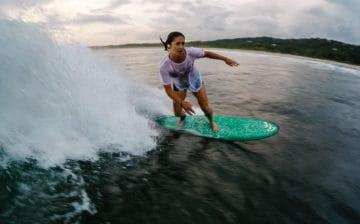 Bailey Richardson surfing