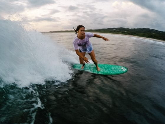 Bailey Richardson surfing
