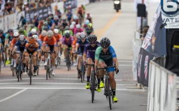 Jess Cerra in road bike race