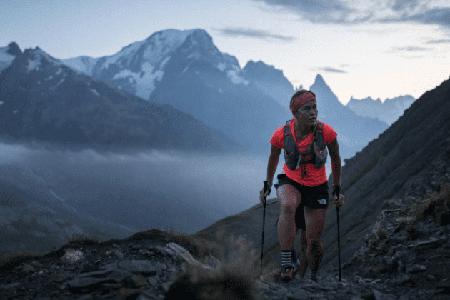 Hillary Allen trail running in mountains