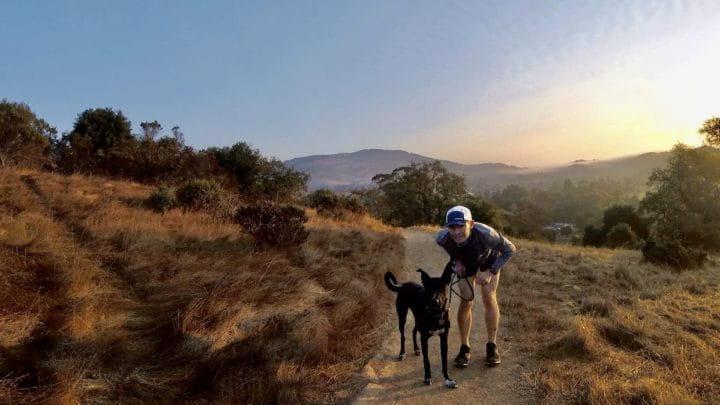 Mario Fraioli with his dog, Tahoe