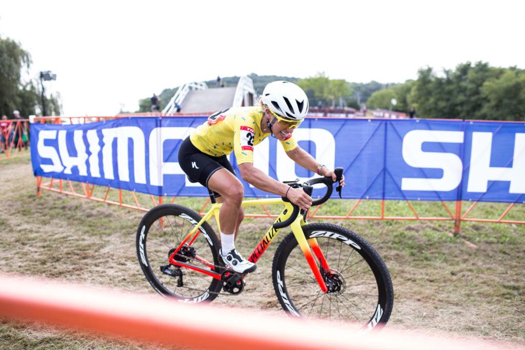 Sarah Sturm racing cyclocross on her Specialized bike.
