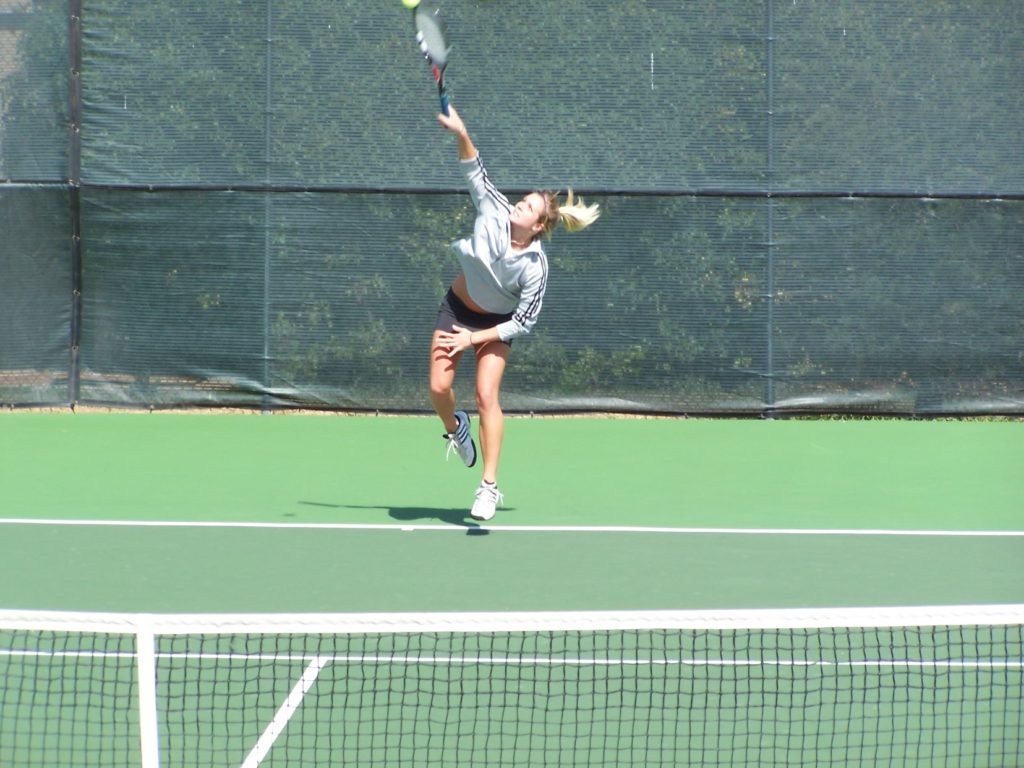 Alison Tetrick playing tennis