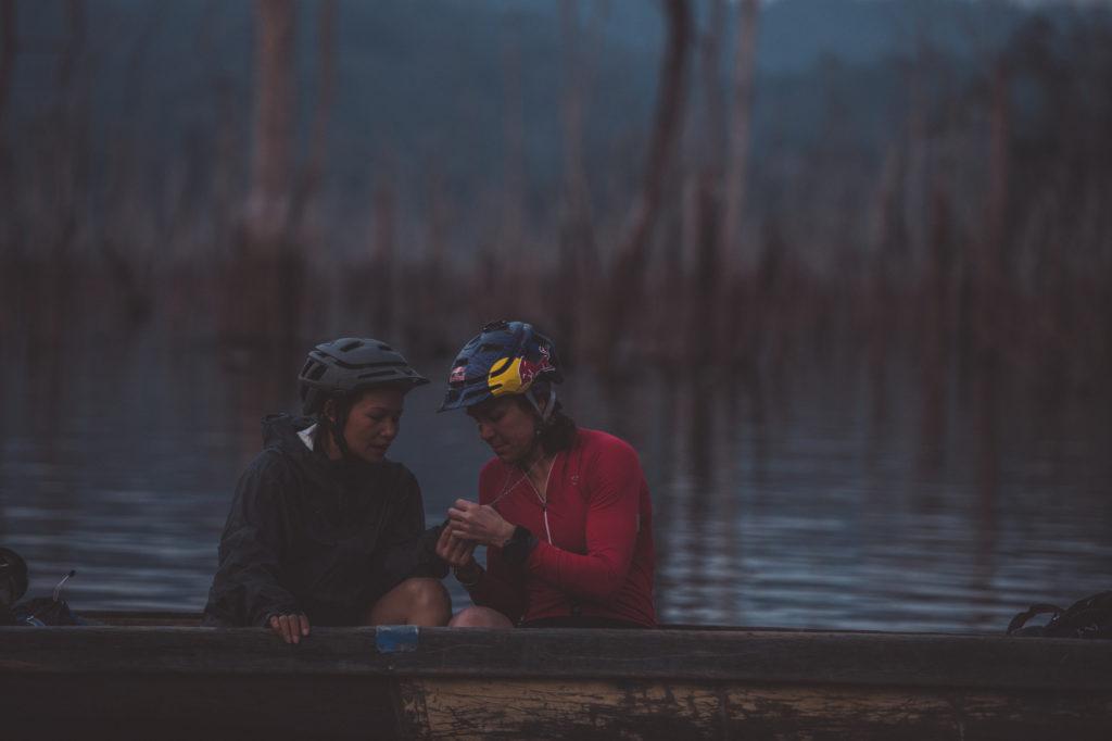 Rebecca Rusch in Vietnam filming Blood Road