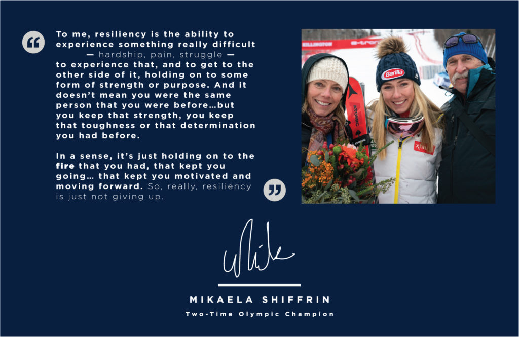 Mikaela Shiffrin reflects on the meaning of resiliency after the tragic death of her father, Jeff Shiffrin