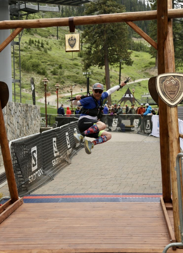 David Swain at the Broken Arrow Skyrace in 2018 in Squaw Valley, CA.