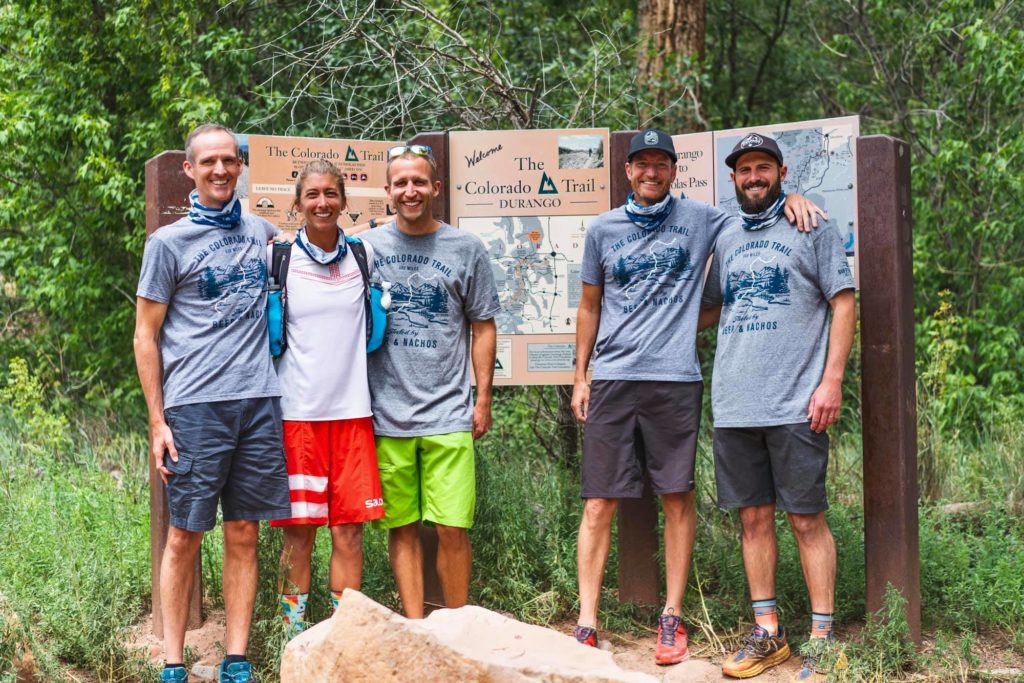 Courtney Dauwalter and her Colorado Trail FKT crew.