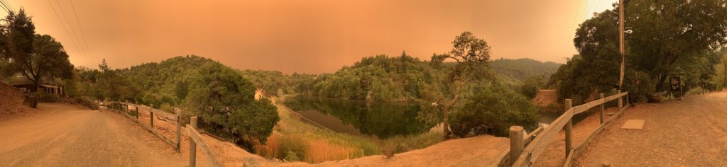 A view of Phoenix Lake on September 9, 2020 during the wild fires. Photo by David Swain.