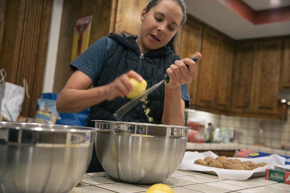 Jess Cerra in her kitchen