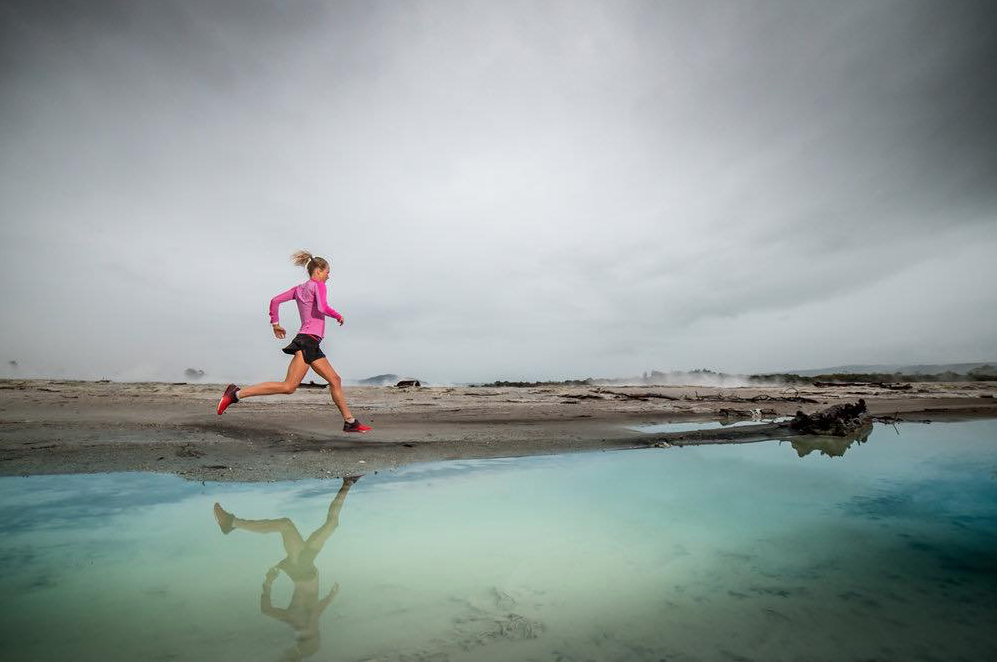 Ultrarunner Lucy Bartholomew running in a race