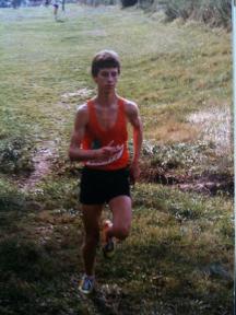 Running coach Greg McMillan running as a kid in high school